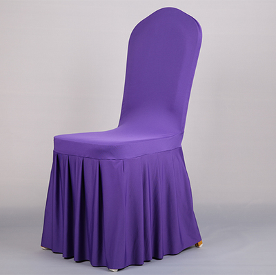 China Supplier Wholesale Ruched Ruffled Wedding Spandex Chair Cover Banquet Hotel Home Chair Cover