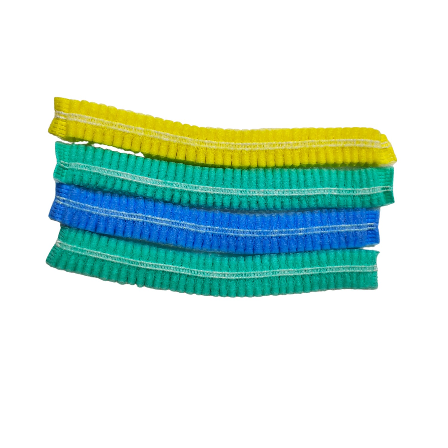 """Disposable Mob Cap Clip Cap Soft PP Nonwoven with Sewn-in Elastic Band for Secure Fit 21"""" or 24"""" in Size Multiple Colors - KingCare 
