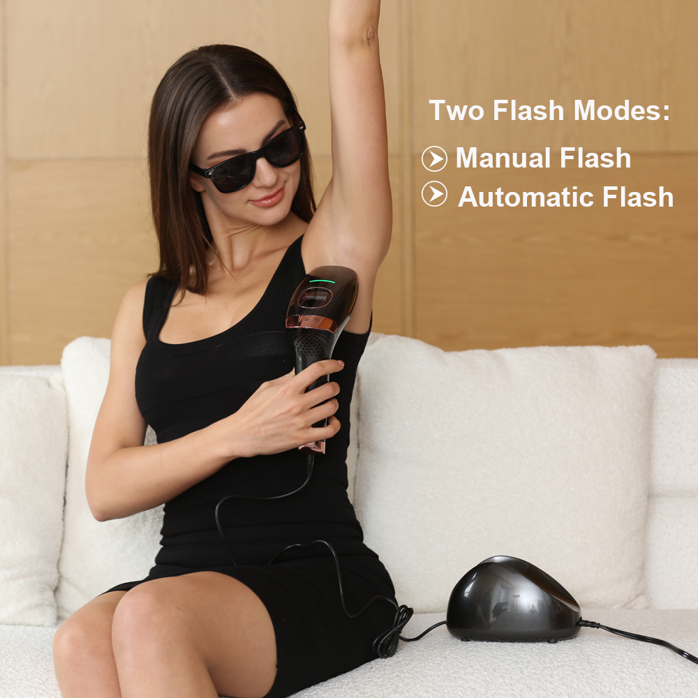 Unlimited Flash Home Use IPL Laser Hair Removal Machine Ice Cool Face Bikini Hand Epilator Women Remover
