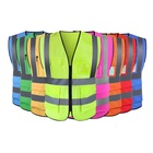 wholesale multi color pocket zip security guard uniforms work reflective safety clothing men safety vest and jackets