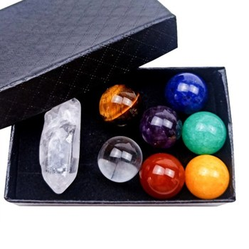 Hot sell Reiki Healing Crystals Seven Chakra Healing Stones Meditation Crystals Healing Stones Set With Gift Box