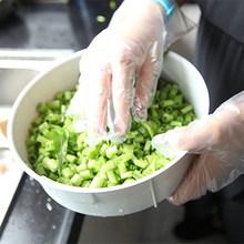 100 шт Одноразовые Прозрачные полиэтиленовые перчатки пластиковые безопасные для пищевых продуктов чистящие перчатки(China)