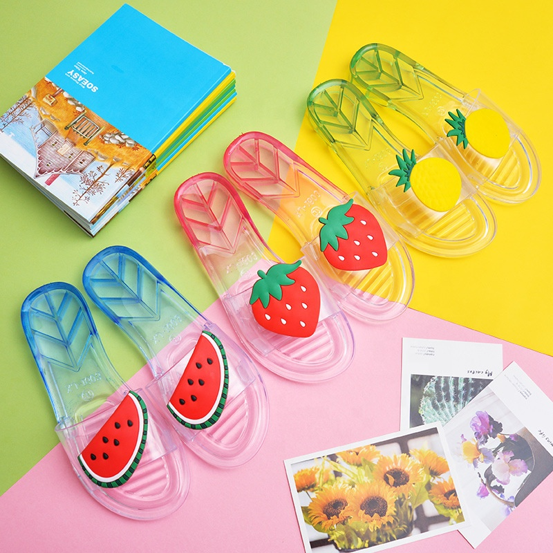 Fashion fruit slippers crystal shoes non-slip lightweight indoor and outdoor sandals