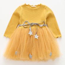 Melario/весенне-осеннее платье-свитер с длинными рукавами для девочек; Детская одежда с капюшоном для девочек; Плиссированные платья; Милая оде...(Китай)