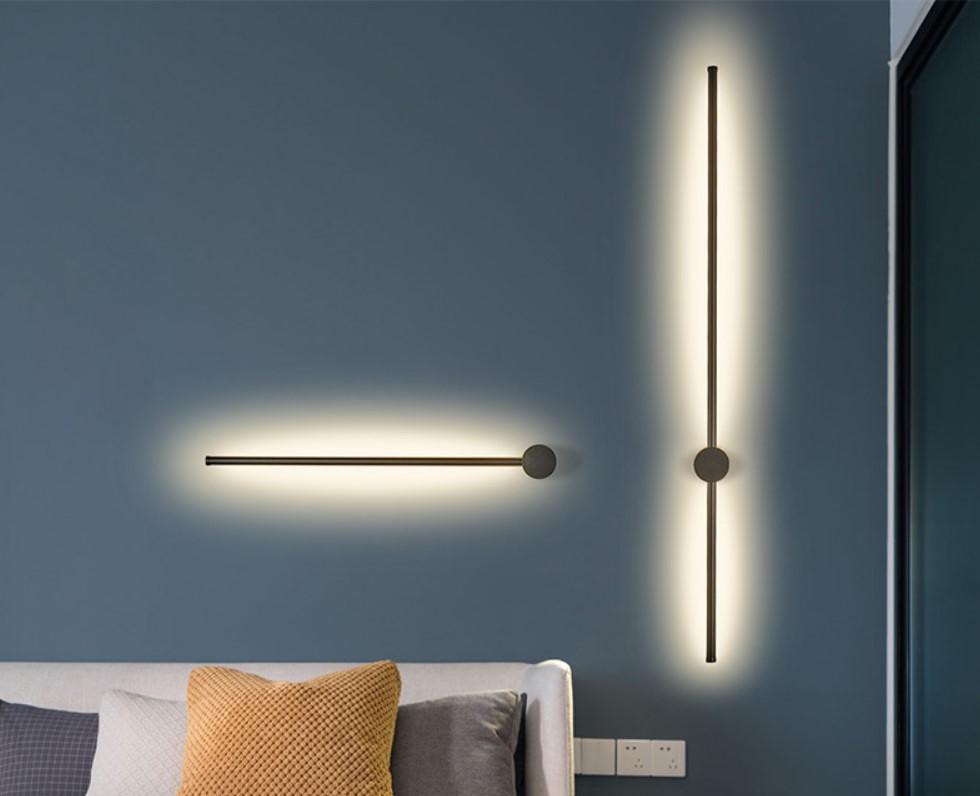 Простой DIY дешевый теплый белый цвет черный настенный светильник для кровати