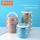Bins Plastic Tiffin Box Lunch 2 Layers Portable Foldable Modern Stainless Steel Tiffin Bento Lunch Box Food Container Storage Bins Plastic Box Basket