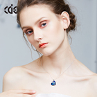 Heart Pendant Heart Women Pendant Necklace CDE Wholesale Fashion Womens Crystal Jewelry Heart Pendant Necklace 2021