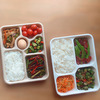 5 compartments container
