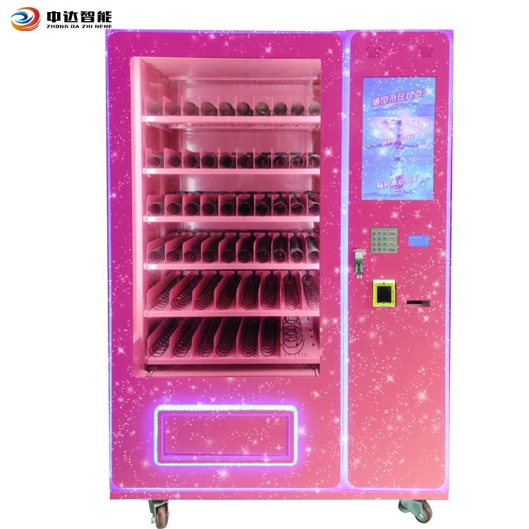 Пользовательский дизайн, розовые ресницы, пучки волос, парики, торговый автомат