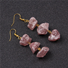 Strawberry Quartz Drop Earrings