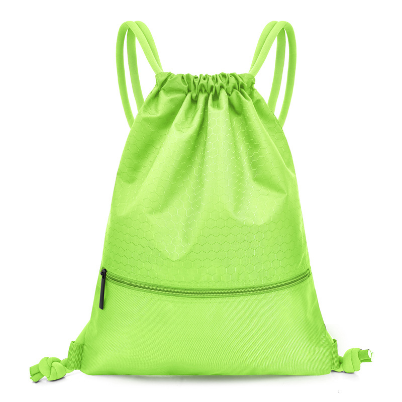 Large drawstring bag Most Popular Double Sturdy Non Woven Portable Drawstring Bag With Zipper Small Pockets
