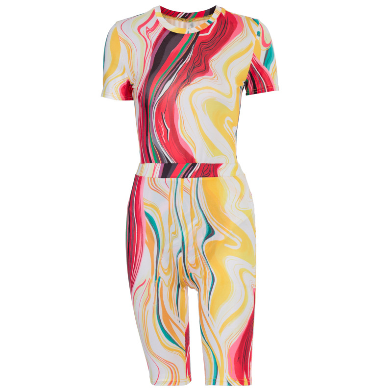 Stylish Sweat Suit For Women's Wholesale Tie Dye Sports Suits Casual Pants Set Two-piece