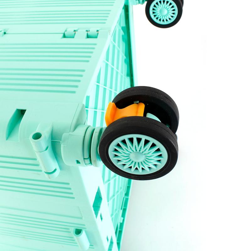 Personnalisé roue détachable en plastique roulette chariot bagages sacs de voyage pour voiture