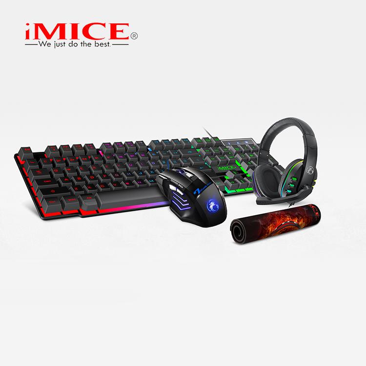 Imice Gk-430-nuevo Teclado,Ratón,Auriculares,Alfombrilla,Juego De  Videojuegos 4 En 1 - Buy 4in1 De Kit Product on Alibaba.com