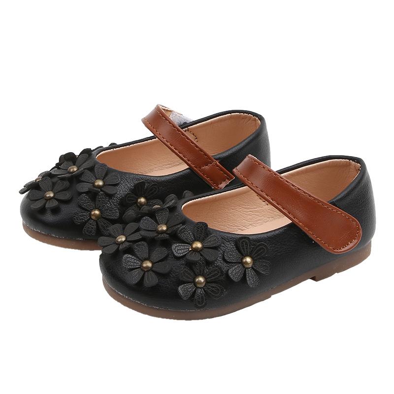 Детская Классическая школьная обувь на возраст 0-1 года, милая летняя Осенняя повседневная обувь для девочек с цветочным украшением