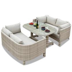 Уличная мебель для патио, современный плетеный диван из ПЭ ротанга