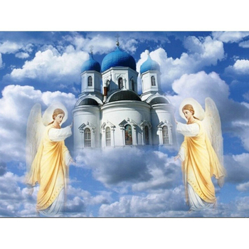 Sticker Picture Scenery Diamond Wall Painting Church Of Jesus 5D Full Round Drill Home Decor Embroidery Cross Stitch Beadwork