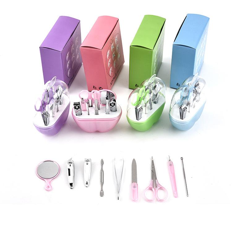 Ножницы для ногтей в форме яблока, набор инструментов для ногтей, ножницы для ногтей, маникюрный набор для путешествий с принтом логотипа
