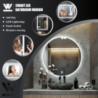 Mirror Bluetooth Winning Rectangle Vanity Led Bathroom Wall Smart Mirror Backlit Defogger Shatterproof Bluetooth Intelligent Mirror Wand Spiegel