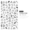 nail stickers decals F638