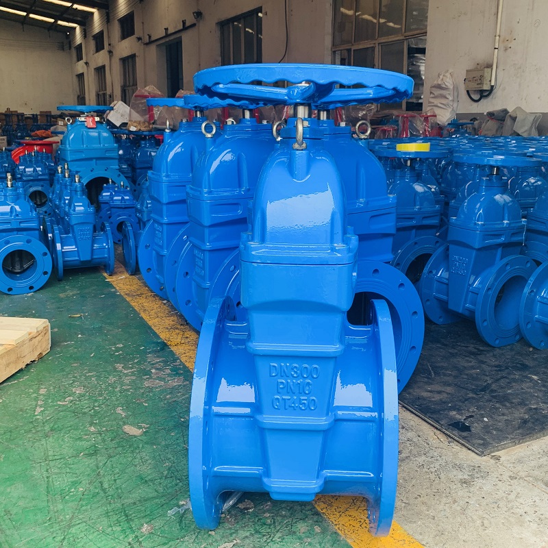 12 inch DN300 cast ron PN16 water soft seal Russian Gost gate valve
