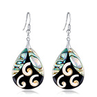 New Arrival Fashion New Earrings Water Drop Shaped Natural Abalone Paua Shell Earrings for Women Jewelry BHY015