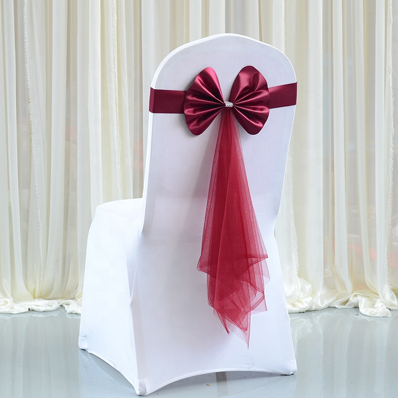 Wedding Banquet Decorative Party Chair Sashes