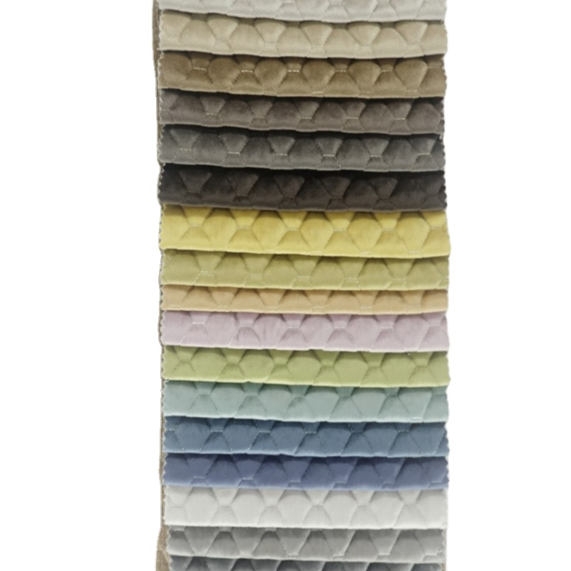 Luxury quilted fabric for beds chairs sofas upholstery