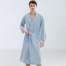 Новый мужской халат, кимоно, халат для мужчин, Повседневная Домашняя одежда, вафельные халаты, Летний Тонкий халат, одежда для сна, домашние ...(Китай)