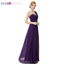 Платья подружки невесты размера плюс Ever Pretty EP09768, цветочные платья на одно плечо, трапециевидные шифоновые платья с оборками для свадебной в...(Китай)