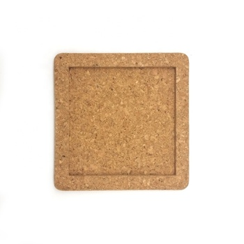 190x190x14mm Cork tray for ceramic tiles
