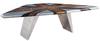 Wood Frame+Aluminium Cover+Rivets+Genuine Leather