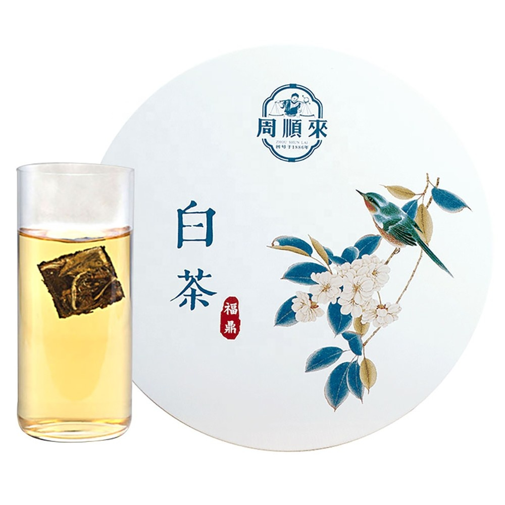 ZSL-LH-1000M Chinese Compressed White Tea Cake Bai Mu Dan Fujian Area Gift Box Detox Tea Cleanse Off Healthy Balance - 4uTea | 4uTea.com