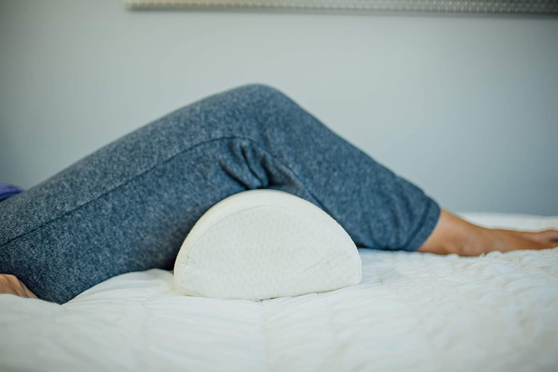 Adjustable Knee Leg Neck Lumbar Pain Relief Half Round Moon Memory Foam Pillow