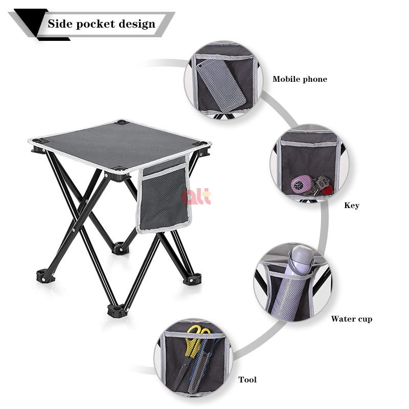 Мини-стул складной из алюминиевого сплава для барбекю и рыбалки