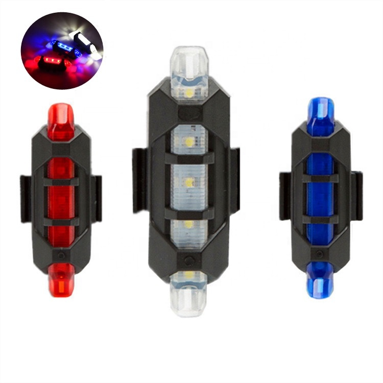 USB Rechargeable Bike Rear Light Warning Tail Lamp LED Bicycle Waterproof