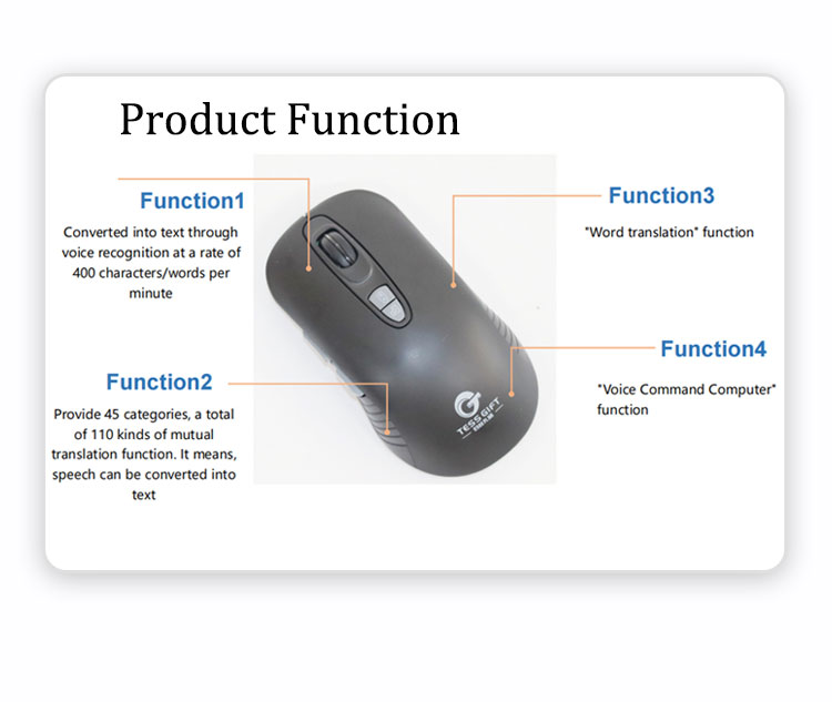 AI Artificial Intelligence voice typing mouse search translation wireless charging business office