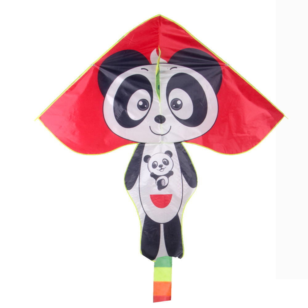 Factory direct toys cute and durable easy flying custom cartoon panda animal shape kite for kids from weifang FLY TOYS