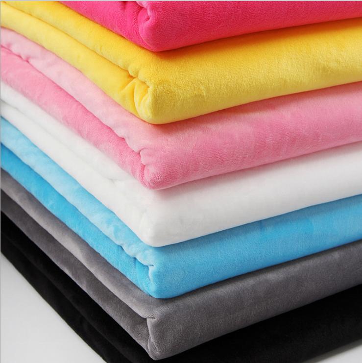 Изготовленная на заказ ткань minky, супермягкая однотонная мягкая флисовая ткань minky для малышей