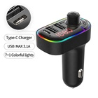 Car Mp3 Mp3 Car Mp3 LUTU C12 BT 5.0 Fm Transmitter Hands-free Car Mp3 Player 7 1 Colorful Lights Usb PD Fast Car Charger Support Sirl