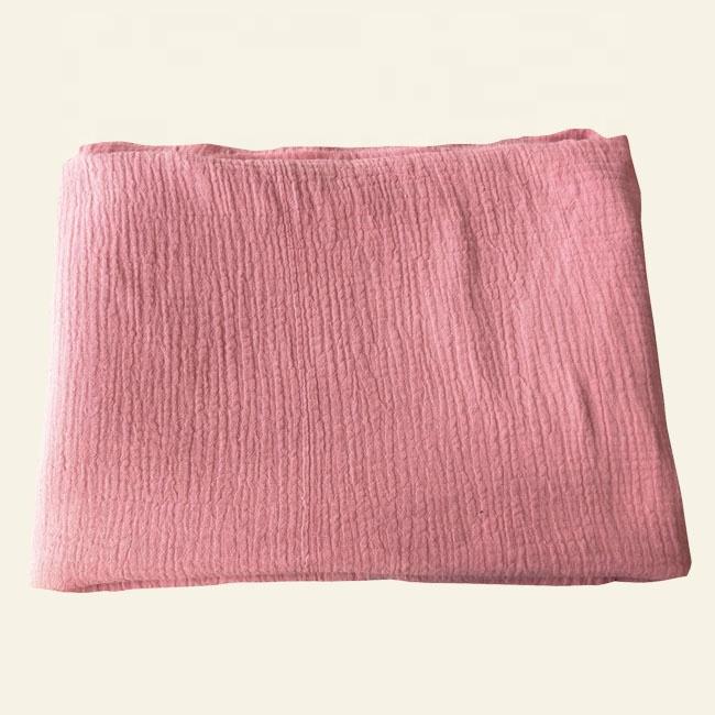 hot sale organic cotton double gauze fabric for baby garment