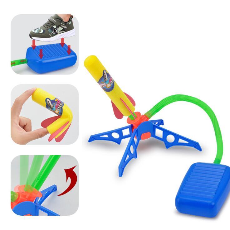 Amazon Популярная Детская уличная игра пенопластовая пусковая установка воздушный насос педаль артиллерия пусковая установка игрушка для детей