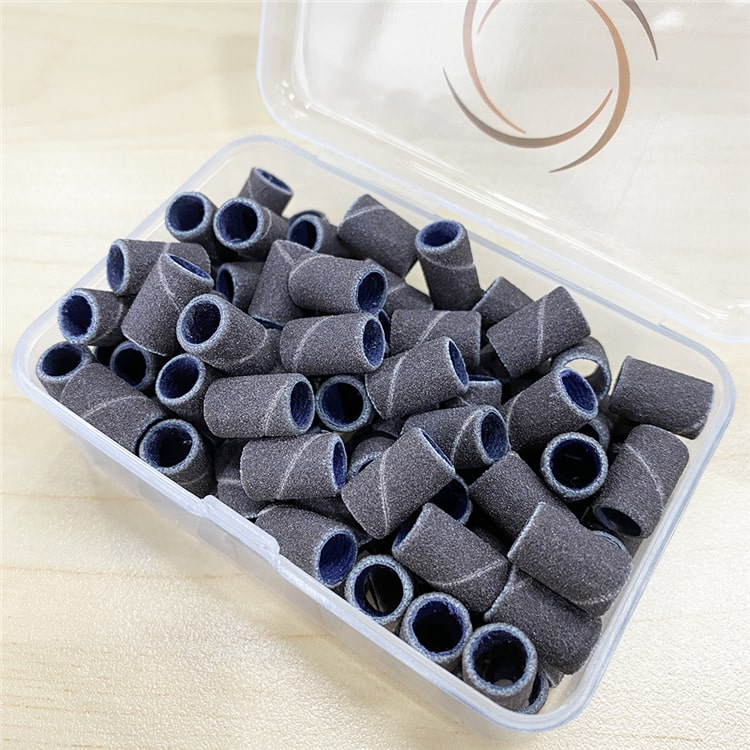 Набор инструментов Chiyan для маникюра и педикюра, в коробке, наждачная бумага фиолетового цвета с зеброй, петля для дрели для ногтей, шлифовальные ленты для ногтей, сверла