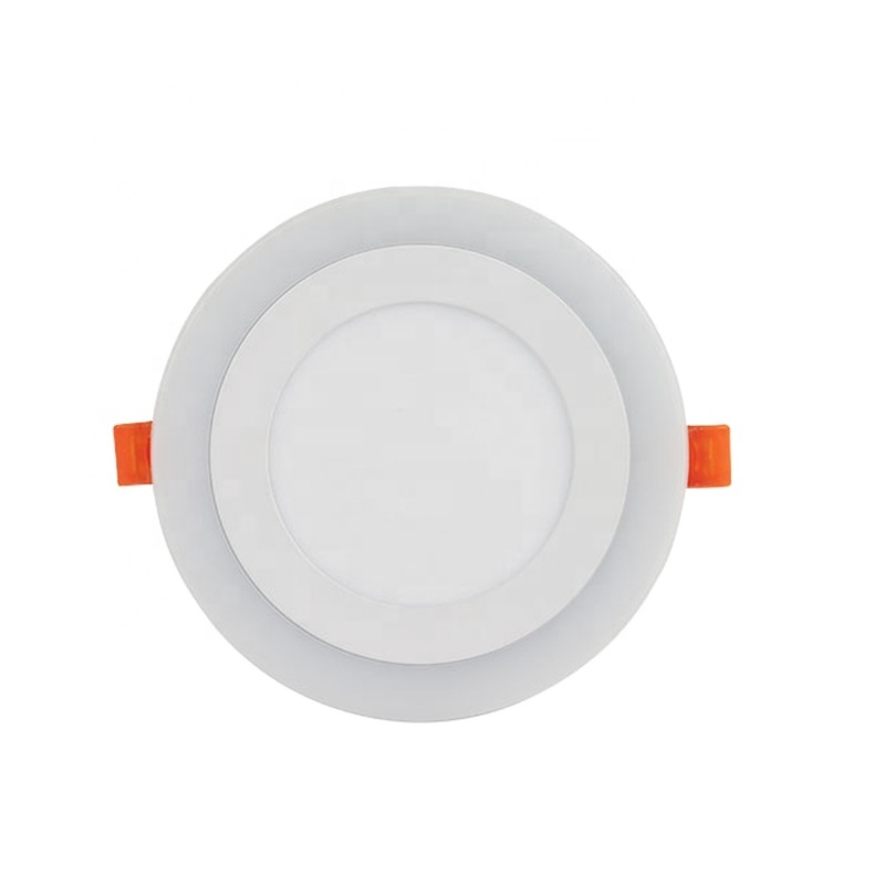 Indoor round aluminum 6w 9w 16w 24w cheap two colour recessed ceiling surface led panel light