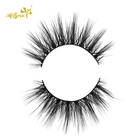 Human Hair Eyelashes Hair Hair Eyelash Hollyren Handmade 3D Faux Human Hair Synthetic Fiber Minx Eyelashes