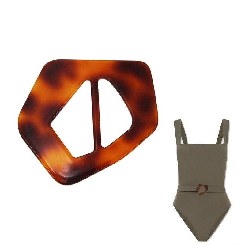 Custom plastic acetate garment accessories fashion waist belts buckle scarf  buckle