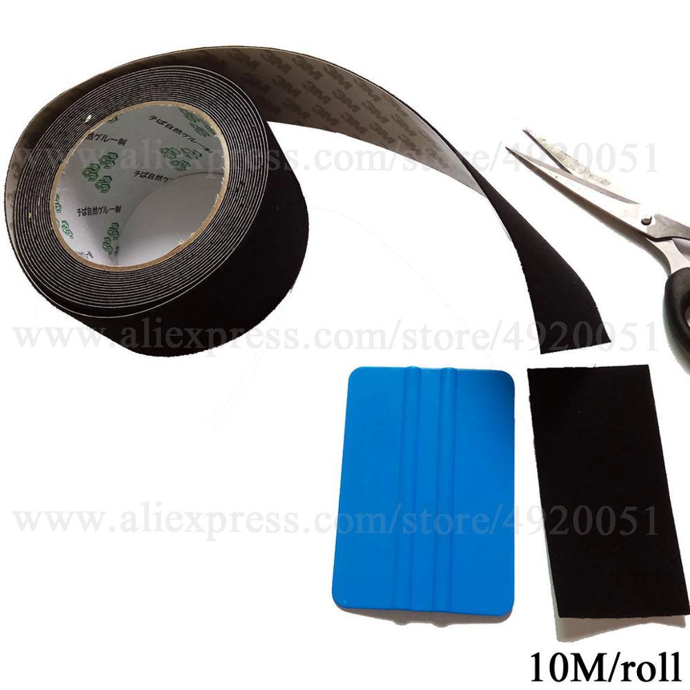 10 м 4,8 см ролл виниловых обоев Фольга пленки фетровая лента для швабры с самоклеющийся Клей Автомобиля фетровые края оконные шторы в простом стиле из плотной ткани, различные оттенки инструмент A08-10M