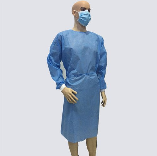 100 - Pack Disposable Blue Plastic Isolation Gown 30 Gsm - KingCare   KingCare.net