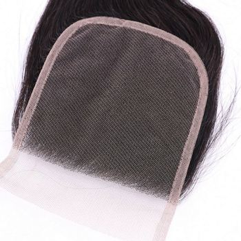 Natural Raw Indian Hair Unprocessed Virgin, Temple Indian Hair Raw Unprocessed Virgin hair closure,5x5 hd lace closure