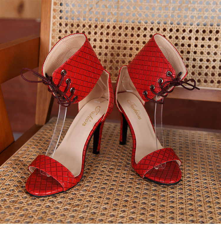PDEP new arrival sexy ankle lace up design high heels shoes for women elegant stiletto high heel sandals for ladies